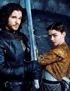 Arya-Stark jon snow
