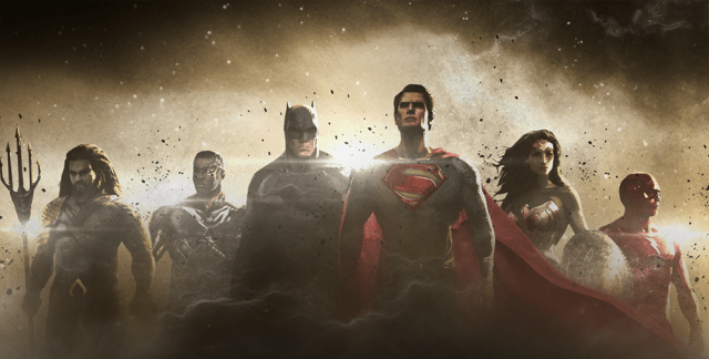justice-league The Flash, Aquaman e Cyborg