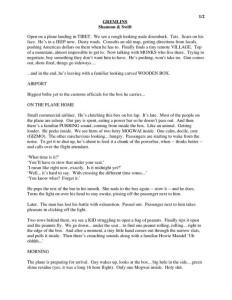 Gremlins script page 1