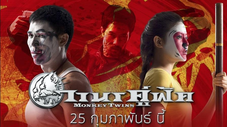 Muay thai contro kung fu nella commedia action tailandese Monkey Twins