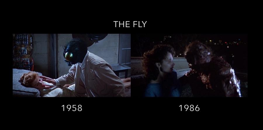 Le stesse sequenze nei film originali e nei loro remake fianco a fianco in un video