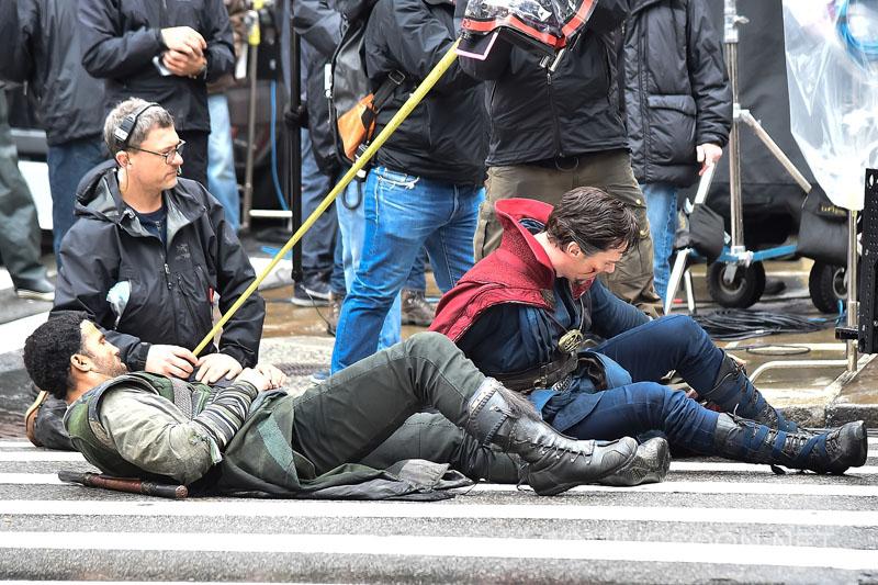 Doctor Strange:  Benedict Cumberbatch in azione per le strade di New York