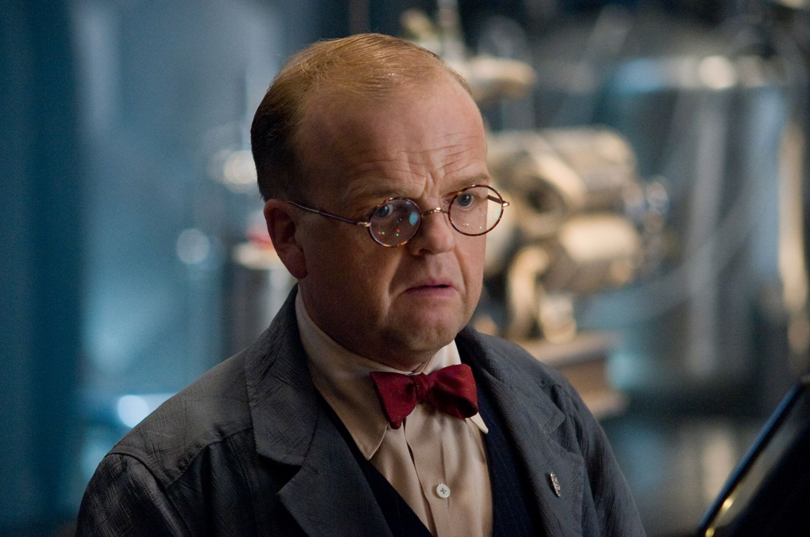 Toby Jones sul set del thriller psicologico Kaleidoscope