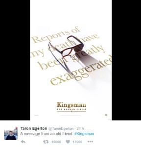 egerton kingsman 2 twitter