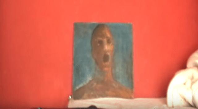 anguished man quadro