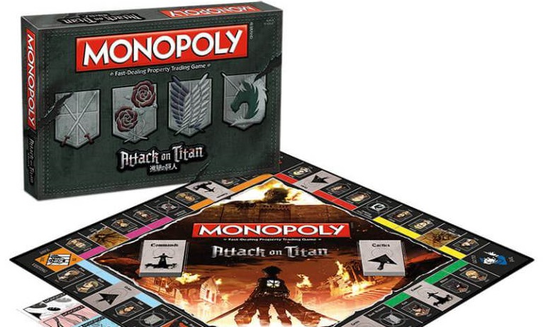 I Giganti conquistano il Parco della Vittoria nel Monopoly di L'attacco dei Giganti