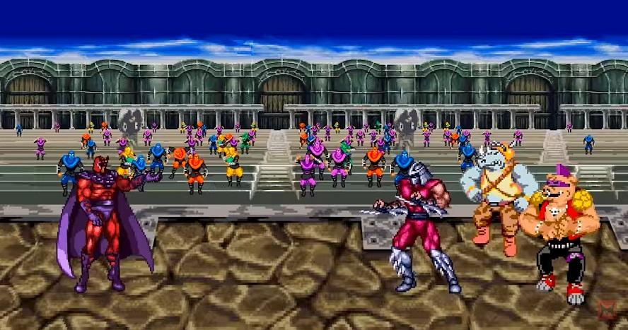 Shredder e il Clan del Piede affrontano Magneto in uno scontro molto prevedibile