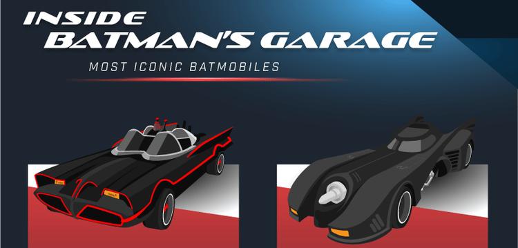 Un'infografica svela costi, velocità e specifiche di ogni Batmobile