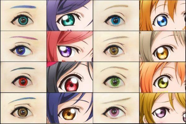 occhi manga anime trucco