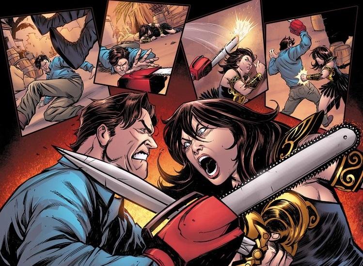 Ash e Xena si alleano in un crossover a fumetti fuori di testa!