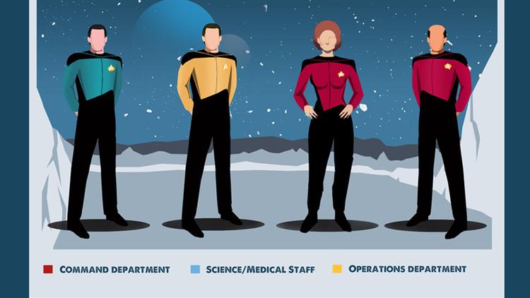 Star Trek: un'infografica mostra come si sono evolute le divise nel tempo