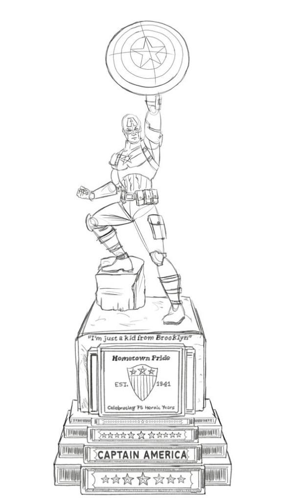 captain-america-statua anniversario