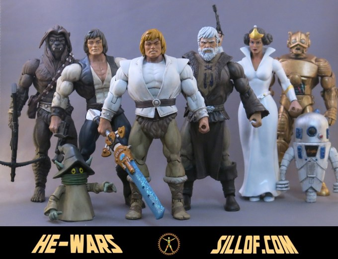 Un artista realizza le action figures mashup tra He-Man e Star Wars