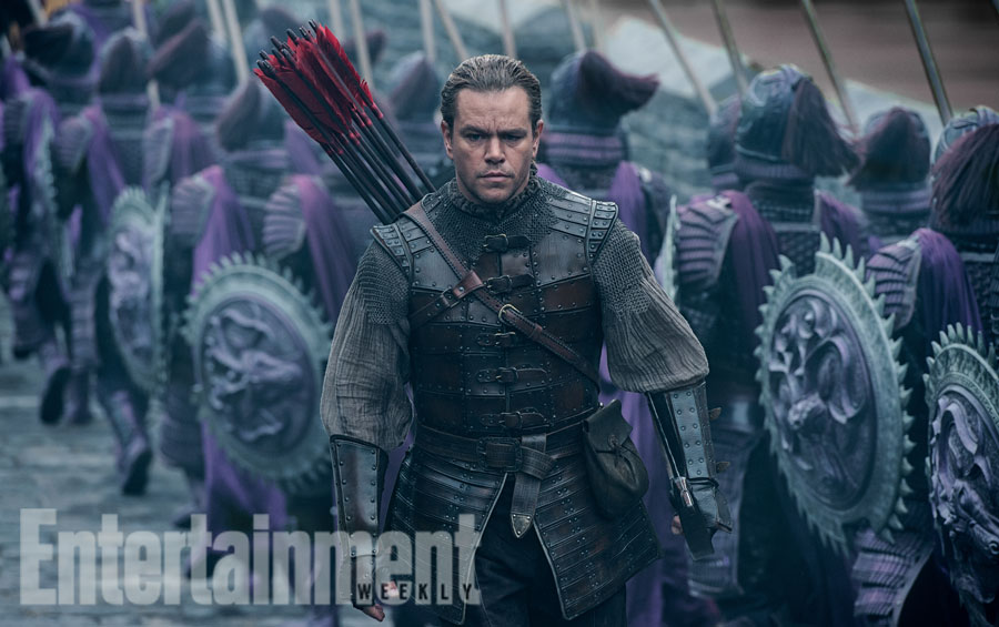 Matt Damon difende la Cina dai mostri nelle prime immagini di The Great Wall