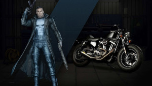 harley davidson marvel punisher