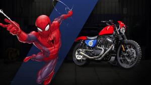 harley davidson marvel spider-man