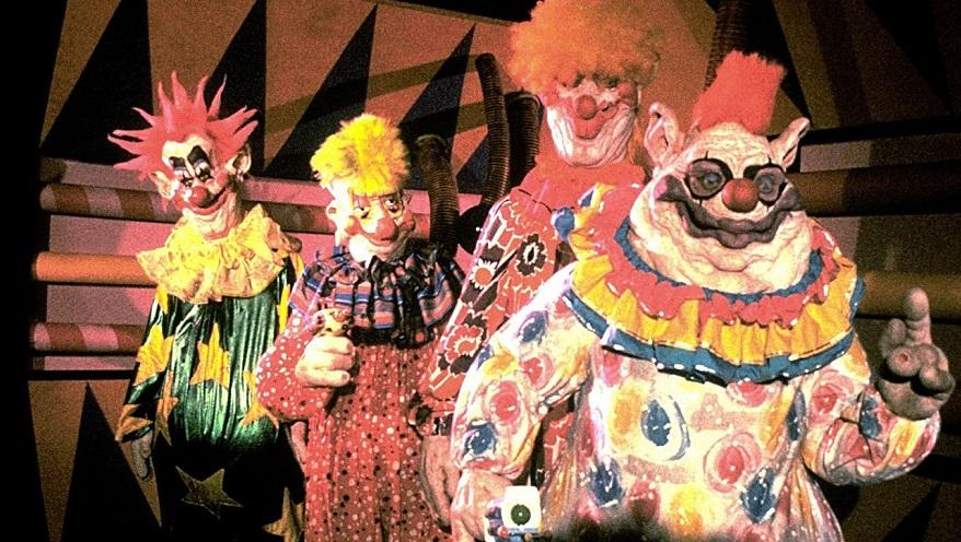 Una infografica presenta tutti i clown apparsi nel cinema horror e in TV