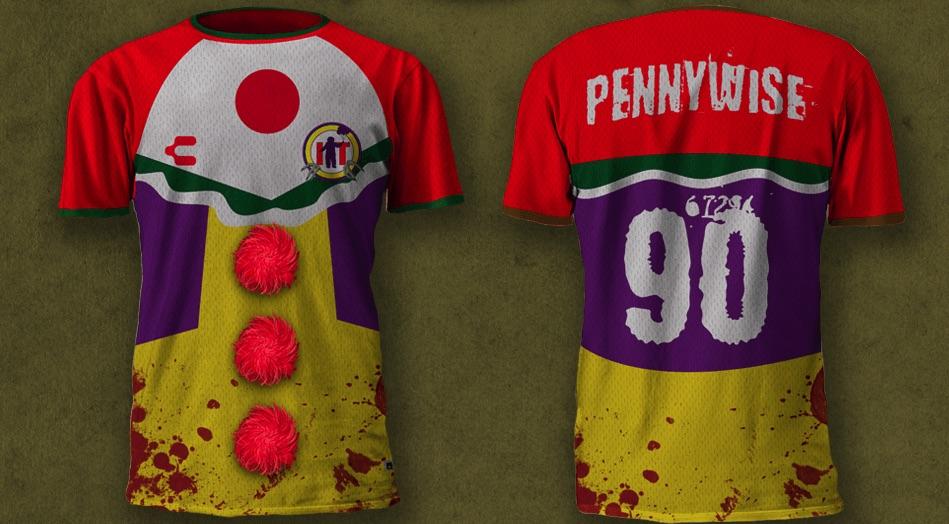 Un artista crea le magliette da calcio delle icone del terrore per la Horror Soccer League