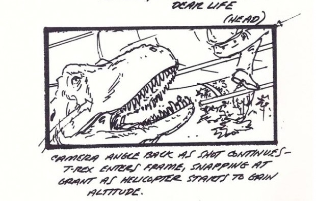 jurassic park helicopter storyboard 5