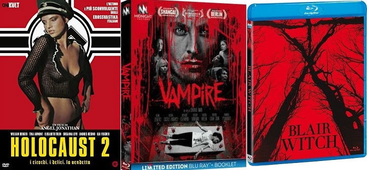 [recensione homevideo] Vampire (BR) - Blair Witch (BR) - Holocaust 2 (DVD)