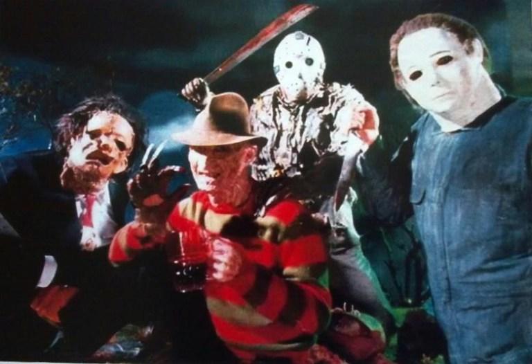 Freddy, Jason, Michael e Leatherface insieme per due foto passate alla storia