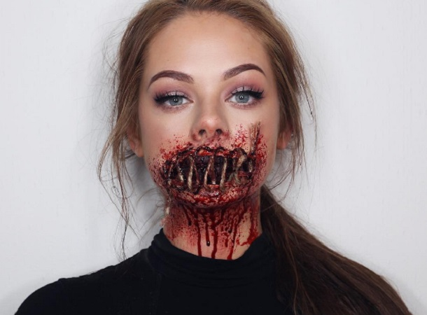 Basta un poco di make-up e il vostro viso sarà quello di un mostro da incubo