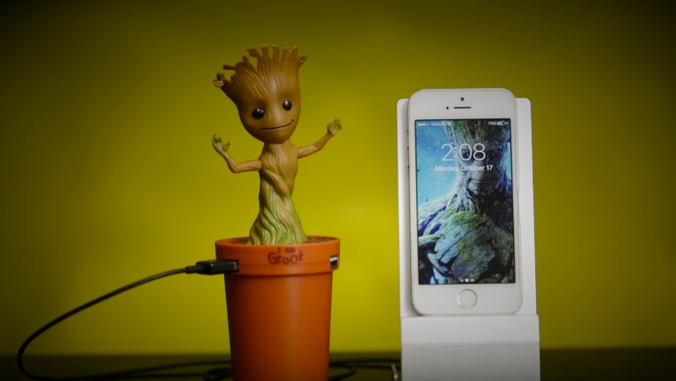 baby groot caricabatterie 3