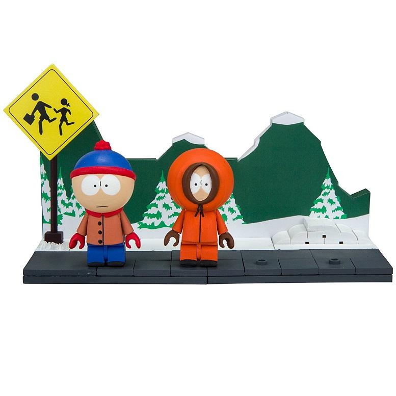 Tutti a South Park con i set da costruire con Stan, Kenny, Kyle e Cartman