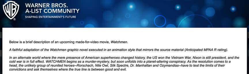 Warner bros annuncia l uscita del film animato v m di