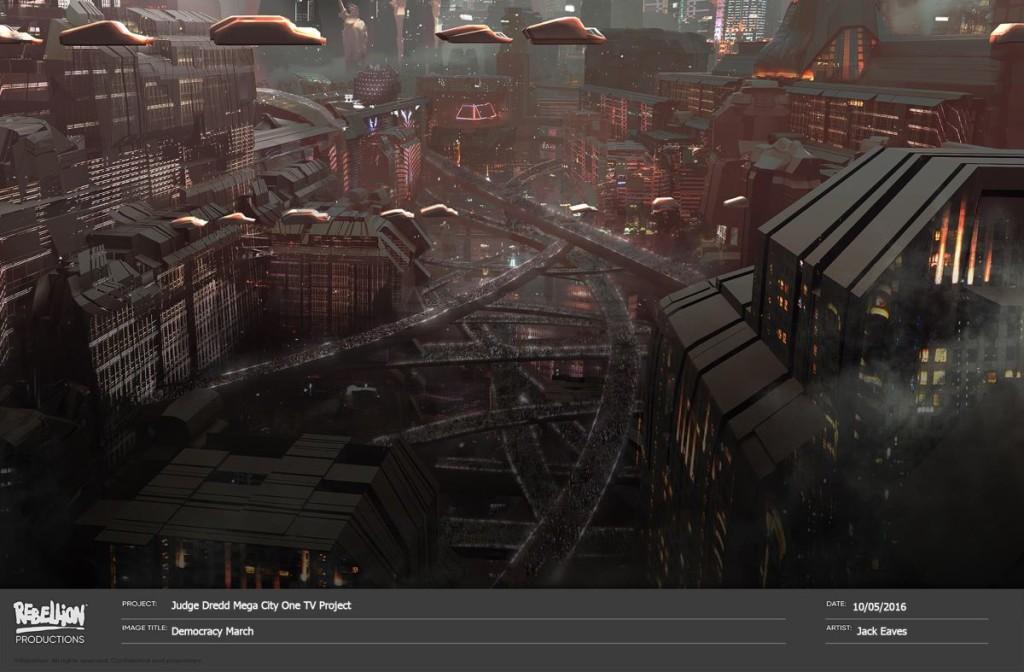 Judge Dredd Mega City One concept art