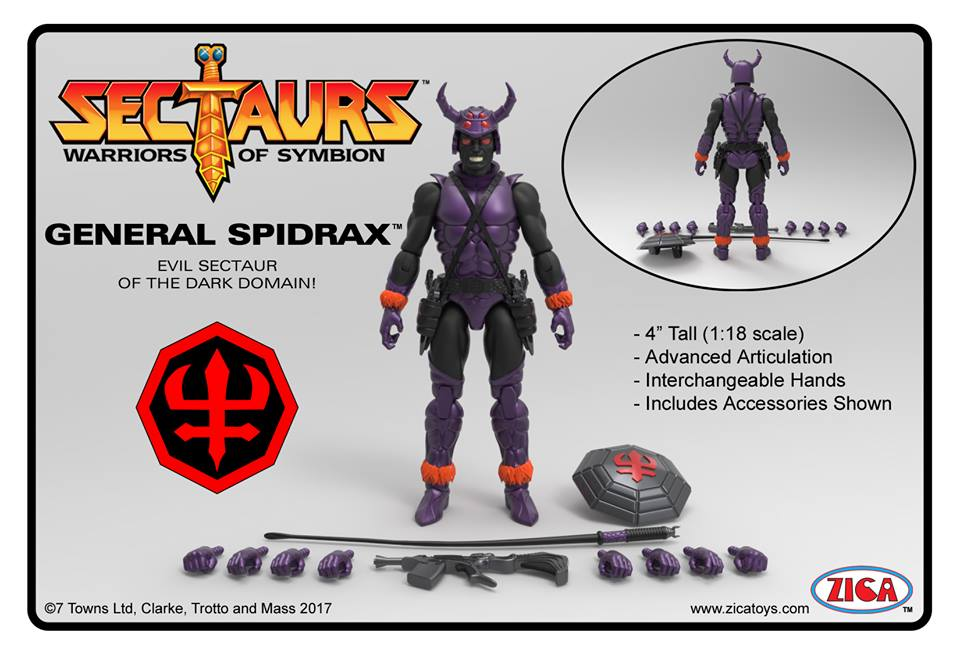 Sectaurs line is General Spidrax
