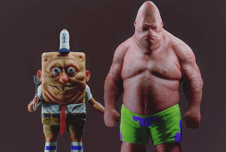 I rendering di SpongeBob e Patrick sono un incubo in tre dimensioni