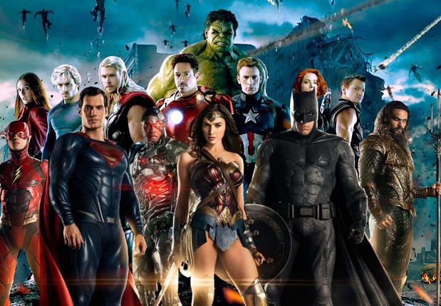dc marvel film supereroi