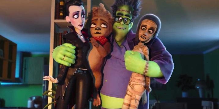 Trailer italiano e data di uscita per la famiglia di mostri animata di Monster Family