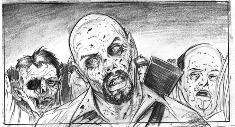 Rob McCallum mostra alcuni storyboard inediti di La Terra dei Morti Viventi di George A. Romero