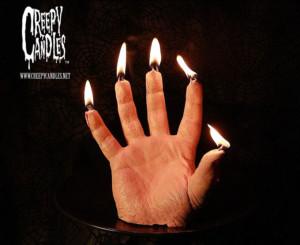 Burning Hand Candle 1