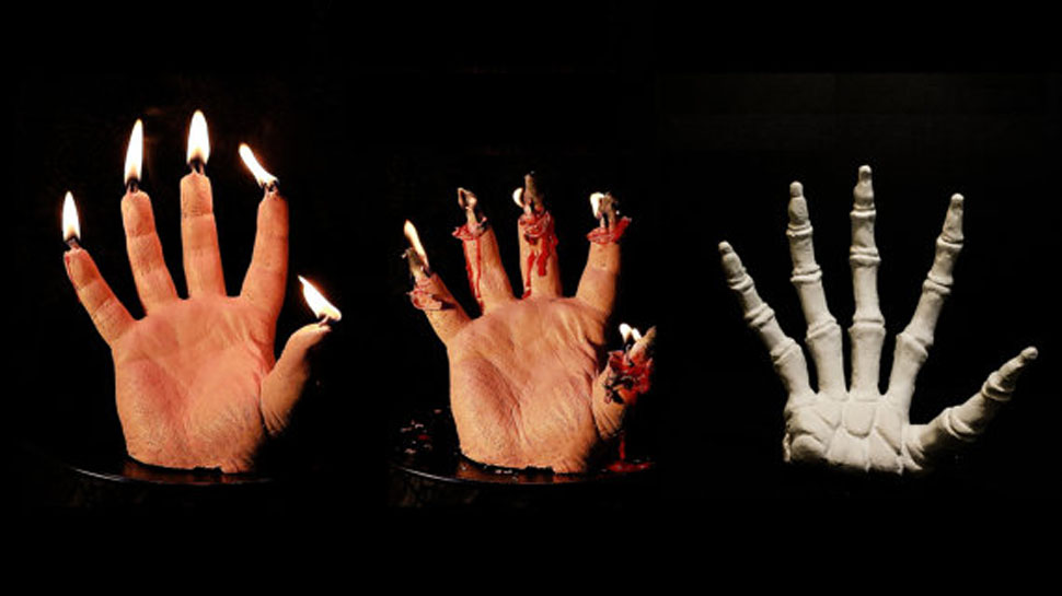 La Bleeding Hand Candle infiammerà il vostro Halloween