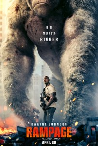 rampage film poster the rock