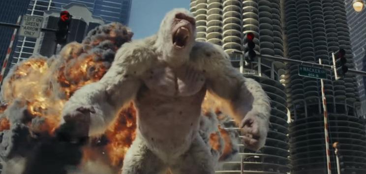 """Dwayne Johnson su Rampage – Furia Animale: """"Ho imposto di cambiare il finale originale"""""""
