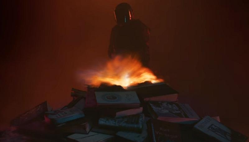 I libri bruciano nel teaser trailer di Fahrenheit 451, film TV della HBO