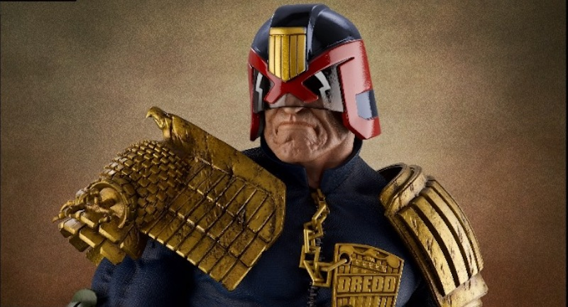 La legge è implacabile con la statua di Judge Dredd in scala 1:3
