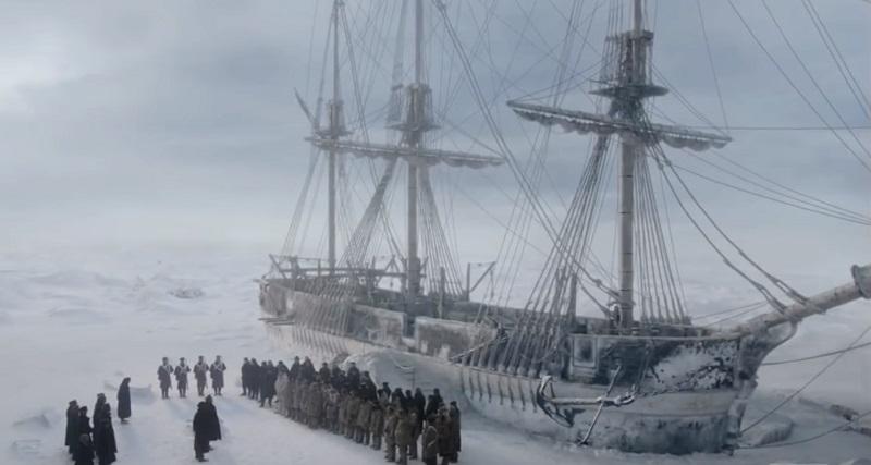Il full trailer della serie The Terror rivela cosa capitò davvero alla nave Erebus nel 1845