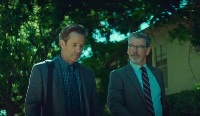 Pierce Brosnan sospetta di Guy Pearcenel trailer del thriller Spinning Man