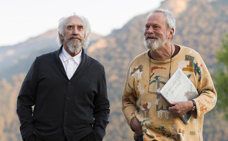Locandina e prima immagine per The Man Who Killed Don Quixote di Terry Gilliam