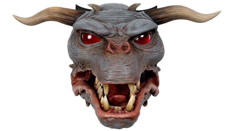 Appendete sopra il caminetto la testa 1:1 del cane infernale di Ghostbusters del 1984