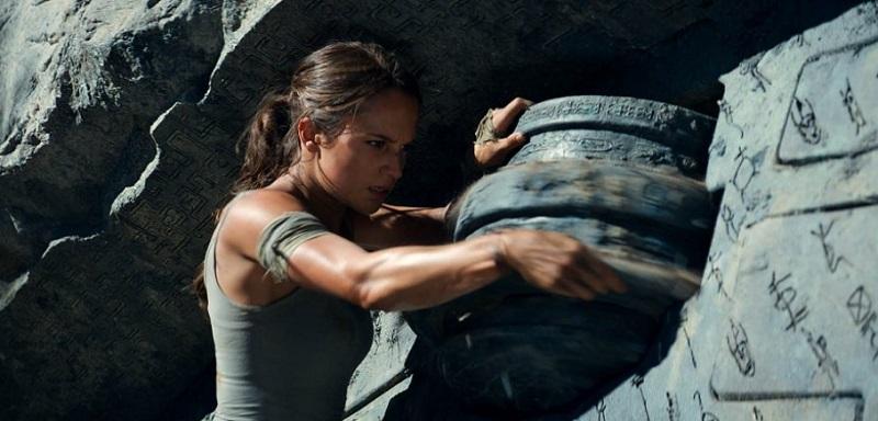 Alicia Vikander in Tomb Raider film