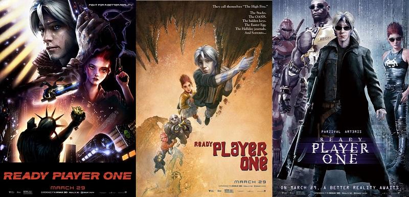Gli 11 promo poster di Ready Player One omaggiano i classici del passato