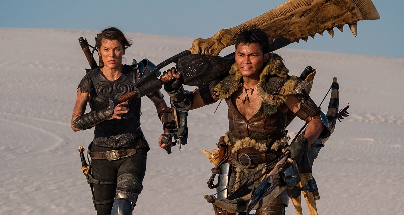 monster hunter Milla Jovovich and Tony Jaa film