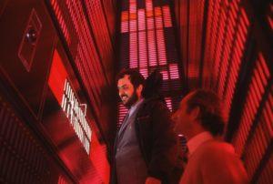 Stanley Kubrick in 2001 odissea nello spazio set