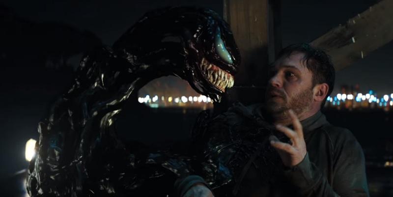 Nel secondo trailer di Venom, Tom Hardy è in cerca di occhi, polmoni e pancreas